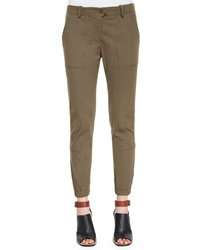 Veronica Beard Field Cargo Ankle Pants Army