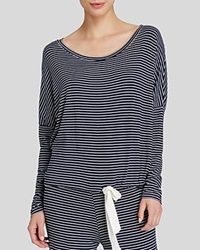 Eberjey Dockside Stripes Slouchy Drawstring Tee