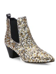 Marc Jacobs Kim Sequin Chelsea Booties Gold