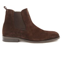 Menlook Label Brown Suede Chelsea Boots