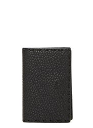 Fendi Roman Pebble Grained Business Card Holder Black
