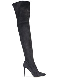 Sergio Rossi Over The Knee Boots Grey