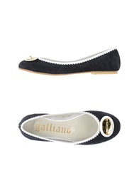 Galliano Ballet Flats Dark Blue