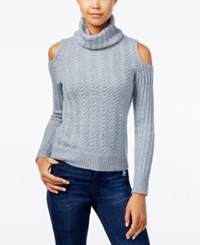 American Rag Juniors' Cold Shoulder Turtleneck Sweater Only At Macy's Off White