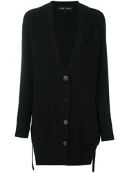 Proenza Schouler Long Ribbed Cardigan Black