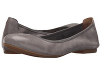 Born Julianne Grey Full Grain Leather Women's Flat Shoes Gray