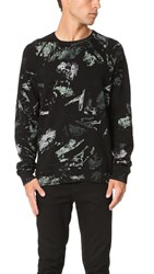 Splendid Mills Camo Active Sweatshirt Black