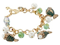Betsey Johnson Into The Blue Fish Charm Bracelet Multi Charms Bracelet