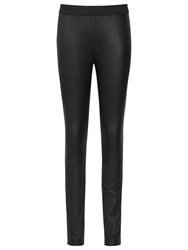 Reiss Leather Carrie Leggings Black
