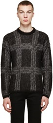 Versus Black Check Mohair Sweater