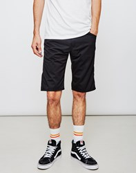 Carhartt Wip Cortez Twill Short Black Rinsed