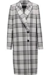 Proenza Schouler Checked Wool Blend Coat Stone