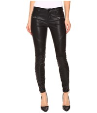 Blank Nyc Vegan Leather Moto Skinny Jeans In Daddy Soda Daddy Soda Women's Jeans Black