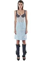 J.W.Anderson Polka Dot Cut Out Bodice Dress Blue