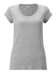 Jigsaw Pima Cotton Sleeve Tee Grey Marl