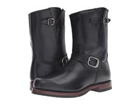 Frye John Addison Engineer Black Smooth Pull Up Leather Men's Boots