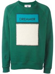 Andrea Pompilio Dreamer Patch Sweatshirt Green