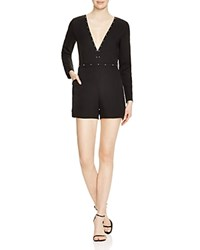 Lucy Paris Studded Deep V Romper 100 Bloomingdale's Exclusive Black