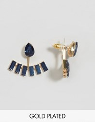 Johnny Loves Rosie Kaycey Navy Through And Through Earrings Navy Blue