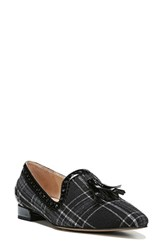 Franco Sarto Women's 'Stella' Flat Black Plaid Suede
