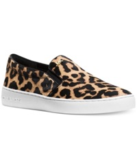Michael Michael Kors Keaton Slip On Sneakers Women's Shoes Cheetah Haircalf