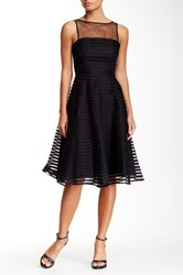 Yoana Baraschi Luna Ribbon Silk Party Dress Black
