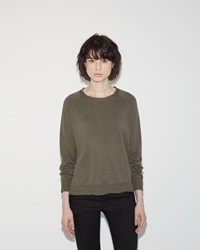 Hope Liv Sweater Khaki Green Melange
