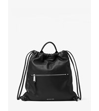 Rhea Medium Leather Drawstring Backpack
