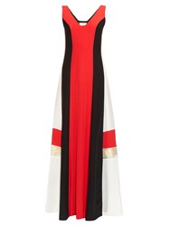 Zeus Dione Pythian Colour Block Silk Dress