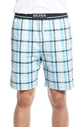 Men's Boss 'Relax' Plaid Jersey Lounge Shorts