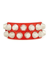 Giant 12 Wide Leather Bracelet With Studs Balenciaga Red