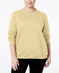 Karen Scott Plus Size Fleece Sweatshirt Only At Macy's Pale Amber