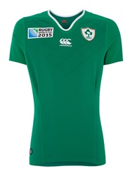 Canterbury Of New Zealand Ireland Home Test Ss Rugby Green