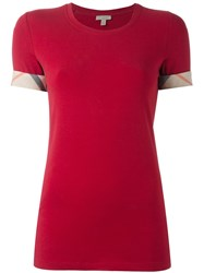 Burberry 'Brit' T Shirt Red