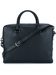 Dolce And Gabbana Front Zip Holdall Black