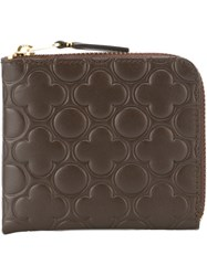 Comme Des Gara Ons Wallet Small Zipped Wallet Brown