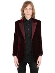 Saint Laurent Satin Lapel Cotton Viscose Velvet Jacket