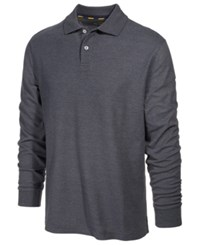 Club Room Men's Performance Sun Protection Long Sleeve Polo Dark Lead