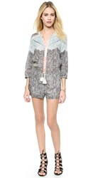 Twelfth St. By Cynthia Vincent Drop Waist Romper Paisley