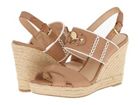 Tommy Hilfiger Pleasant Sable White Women's Wedge Shoes Brown