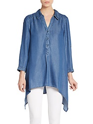 Saks Fifth Avenue Button Front Chambray Shirt Denim