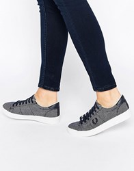 Fred Perry Spencer Two Tone Navy And White Trainers Navy And White