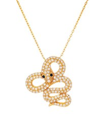 Lord And Taylor Goldplated Pave Snake Pendant Necklace