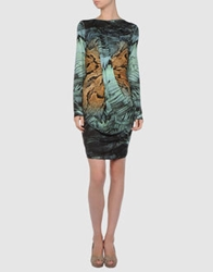Basso And Brooke Short Dresses Turquoise