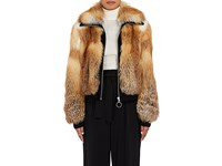 A.L.C. Women's Boyce Red Fox Fur Coat Brown
