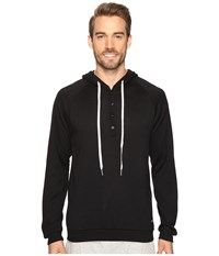 Kenneth Cole Reaction Sleep Hoodie Black Solid Men's Pajama