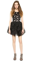 Loyd Ford Beaded Lace Dress Black