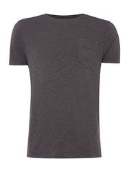 Label Lab Jubilee Pocket T With Studd Charcoal Marl
