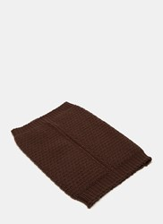 Rick Owens Knitted Neck Warmer Burgundy