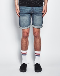 The Idle Man Denim Shorts In Vintage Wash